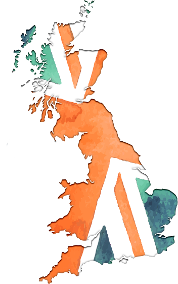 Supporting Great British charities. Map of Great Britain.