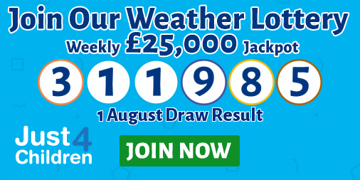 Play the Just For Children Weather Lottery
